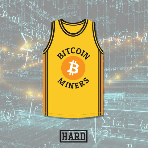 Satoshi 21 Bitcoin Miners Basketball Jersey Crypto League by HARD