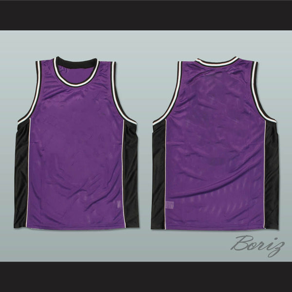 competitive price beb09 86a61 Plain Basketball Jersey Purple-Black-White