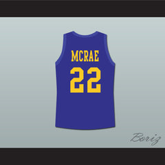Anfernee Hardaway Butch McRae Western University Basketball Jersey Blue Chips Movie - borizcustom