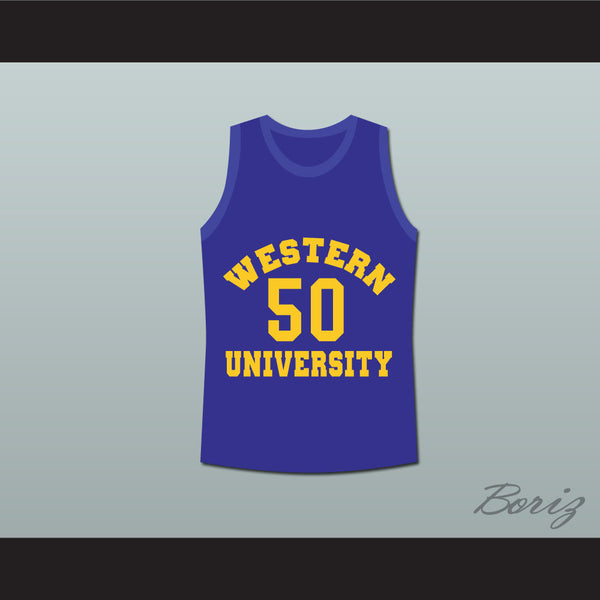 Shaq Neon Boudeaux Western University Basketball Jersey Blue Chips Movie - borizcustom - 1