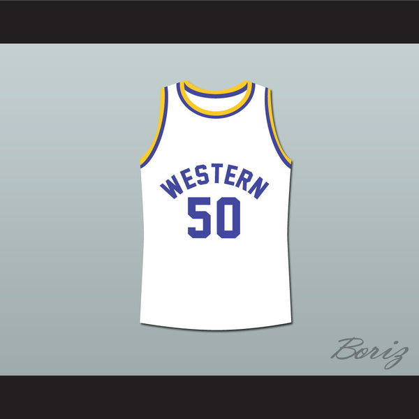 Shaq Neon Boudeaux Western University Basketball Jersey Blue Chips Movie - borizcustom