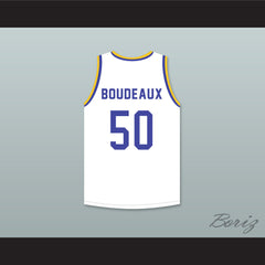 Shaq Neon Boudeaux 50 Western University White Basketball Jersey with Blue Chips Patch - borizcustom - 2