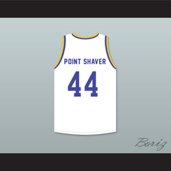 Anthony C Hall Tony the Point Shaver 44 Western University White Basketball Jersey with Blue Chips Patch - borizcustom