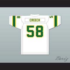 1974-75 WFL Bob Creech 58 Shreveport Steamer Home Football Jersey with Patch