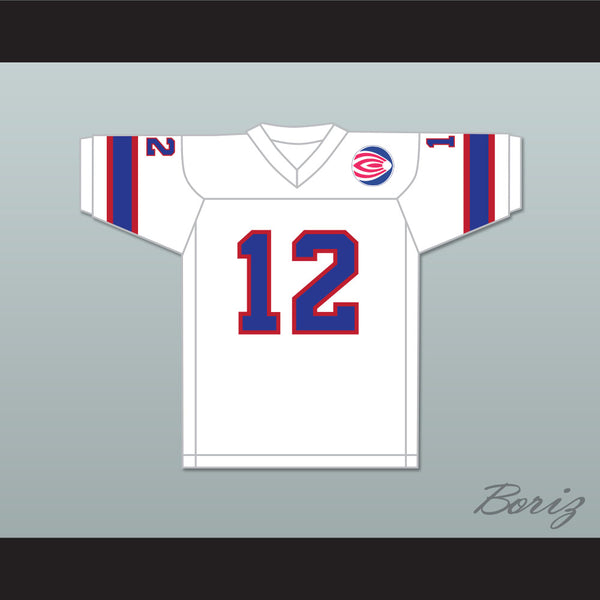 1974 WFL Bob Davis 12 Florida Blazers Home Football Jersey with Patch