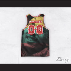 Bob Marley 06 Revolution 3 Color Portrait Basketball Jersey