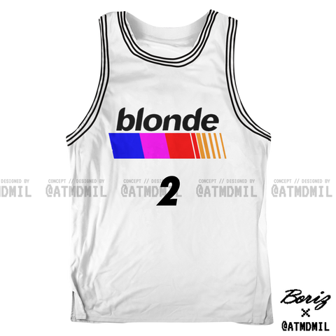 blonde Basketball Jersey