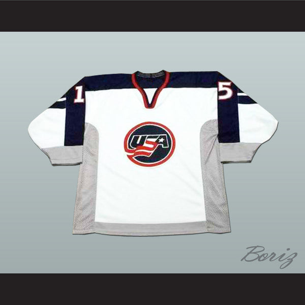 Brett Hull 15 USA National Team Hockey Jersey Any Player or Number - borizcustom