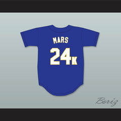Bruno Mars 24K Hooligans Blue Baseball Jersey BET Awards