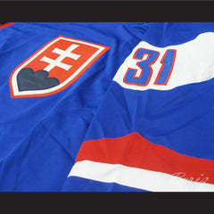 Peter Budaj Slovakia Hockey Jersey Stitch Sewn New Any Size - borizcustom - 5