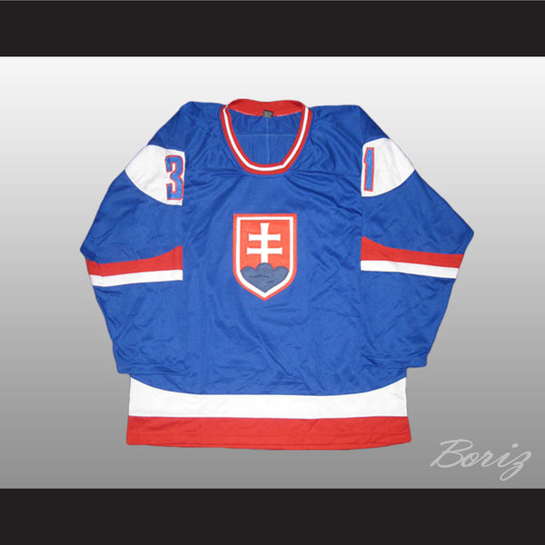Peter Budaj Slovakia Hockey Jersey Stitch Sewn New Any Size - borizcustom - 1