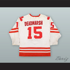 Butch Deadmarsh 15 Calgary Cowboys White Hockey Jersey