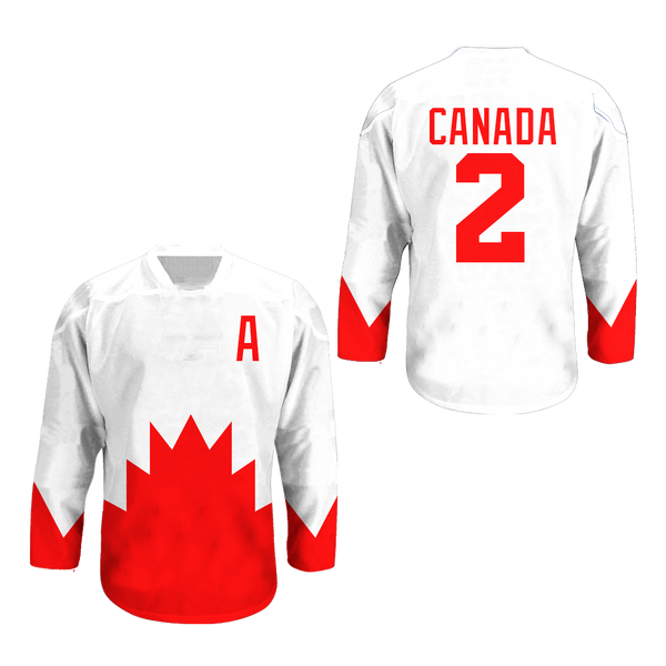 c2b419772 Canada National Team Hockey Jersey Any Player or Number Stitch ...
