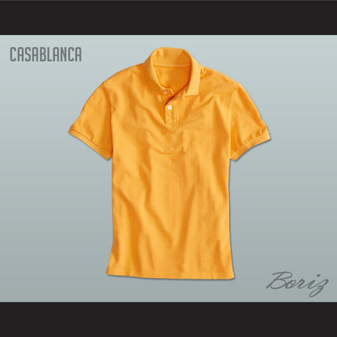 Men's Solid Color Casablanca Polo Shirt - borizcustom