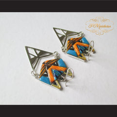 P Middleton Cat Earrings Sterling Silver .925 with Micro Inlay Stones - borizcustom - 4