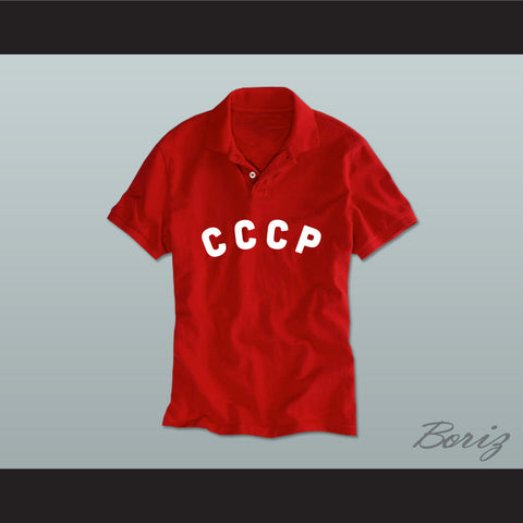 CCCP Russian Football Soccer Polo Shirt - borizcustom