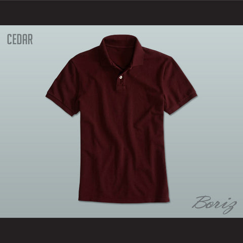 Men's Solid Color Cedar Polo Shirt - borizcustom