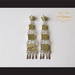 P Middleton Multi-Stone Chandelier Earrings Sterling Silver .925 - borizcustom - 5