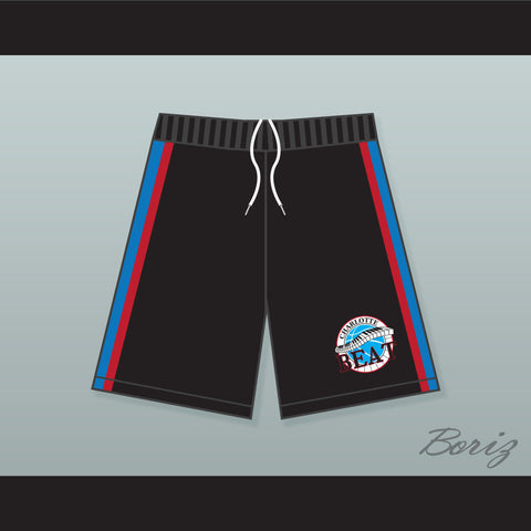 Juwanna Mann Charlotte Beat Home Basketball Shorts with Team Patch