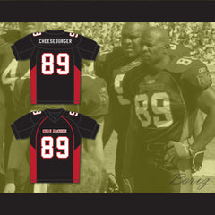 Terry Crews 89 Cheeseburger Eddy Mean Machine Convicts Football Jersey - borizcustom - 3