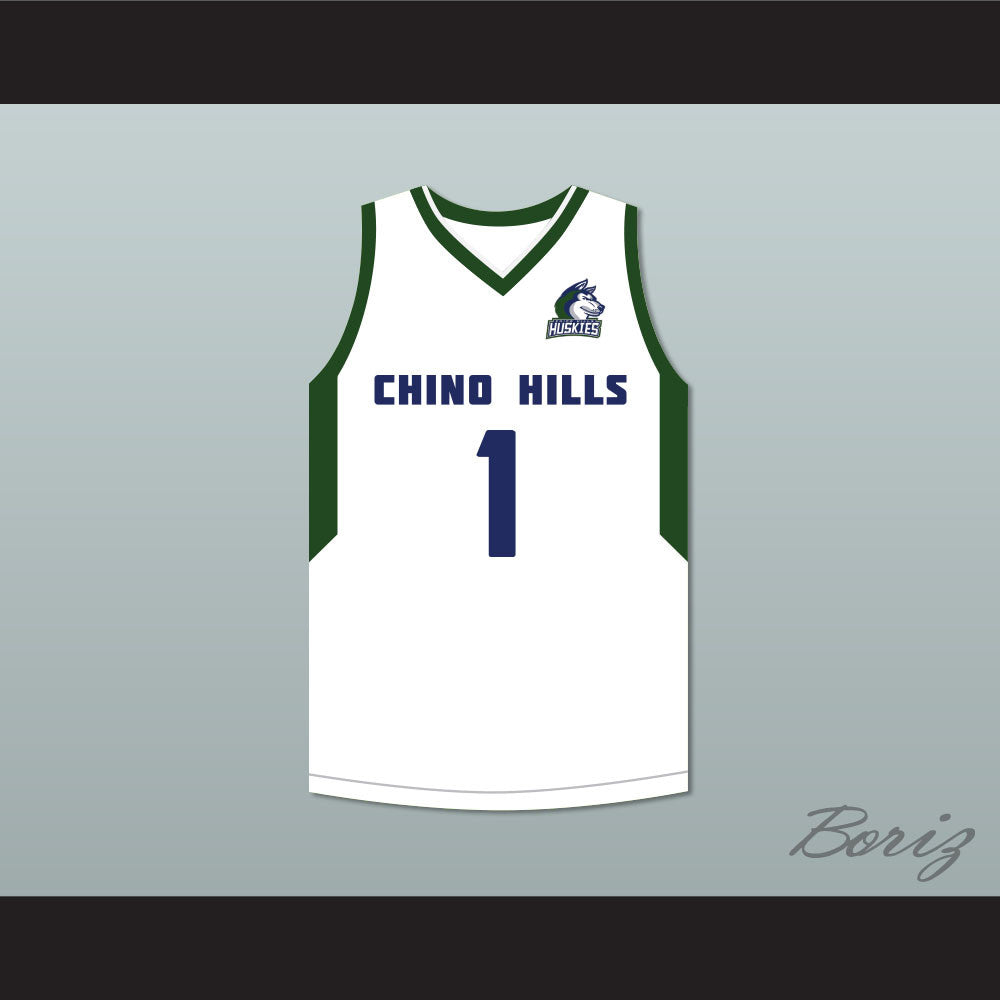 7fb90811af97 LaMelo Ball 1 Chino Hills Huskies White Basketball Jersey with Patch 2