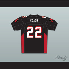 Burt Reynolds 22 Coach Scarborough Mean Machine Convicts Football Jersey Includes Patches - borizcustom