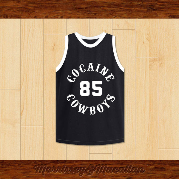 new product 92019 e1f10 Cocaine Cowboys Powder 85 Basketball Jersey by Morrissey&Macallan