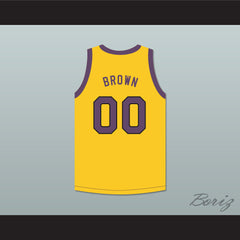 Cole Brown 00 Yellow Basketball Jersey Martin - borizcustom