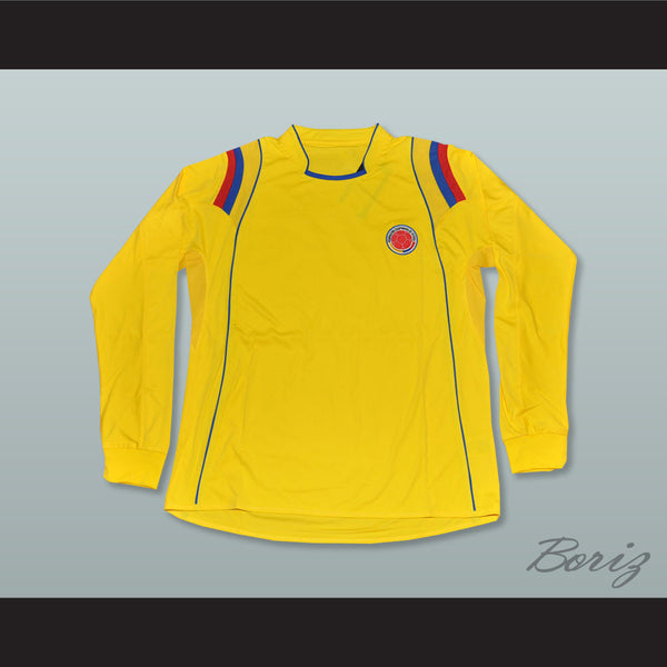low priced 874fa fd6f0 Pablo Escobar 2 Colombia Yellow Long Sleeve Football Soccer Shirt Jersey