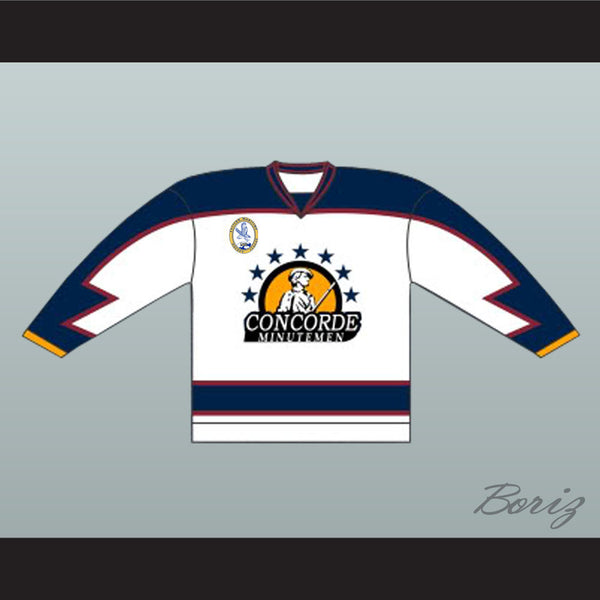 Anson 31 Concorde Minutemen Hockey Jersey with EMHL Patch Goon Movie - borizcustom