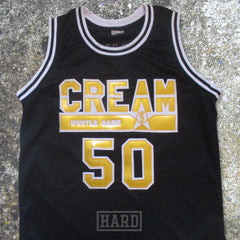 LUCHINI 50 CREAM HUSTLE GAME BLACK & GOLD BASKETBALL JERSEY by HARD - borizcustom - 4