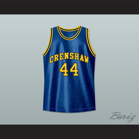 Kobe Bryant Terry Hightower 44 Crenshaw High School Blue Basketball Jersey Moesha - borizcustom