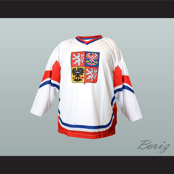 Czech Republic National Team Hockey Jersey New - borizcustom