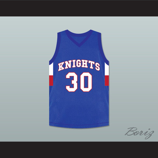 4624938c1d1b Stephen Curry 30 Charlotte Christian High School Knights Blue Basketball  Jersey