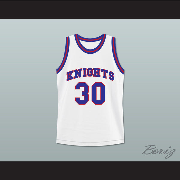 8a349c81c94a Stephen Curry 30 Charlotte Christian High School Knights White Basketball  Jersey