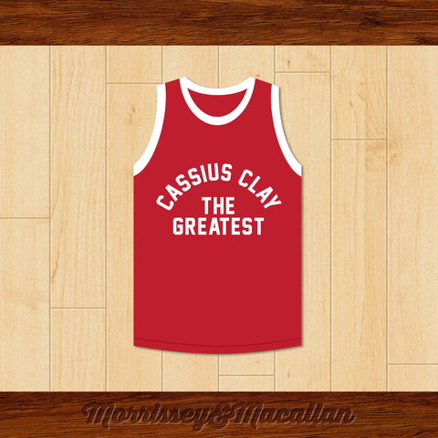 Boxer Cassius Clay/Muhammad Ali Red Boxing Jersey by Morrissey&Macallan - borizcustom