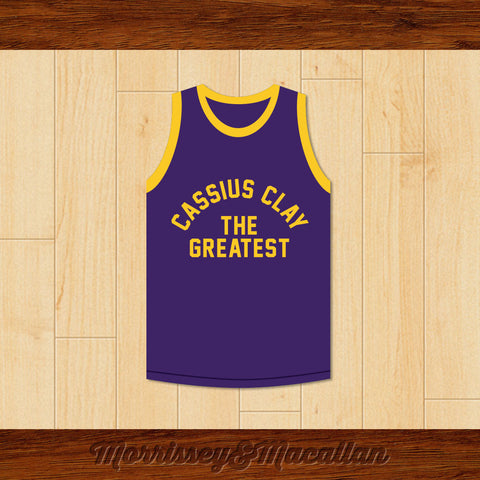 Boxer Cassius Clay/Muhammad Ali Purple Boxing Jersey by Morrissey&Macallan - borizcustom