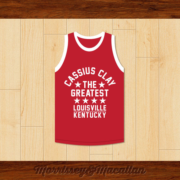 Boxer Cassius Clay/Muhammad Ali Louisville, Kentucky Red Boxing Jersey by Morrissey&Macallan - borizcustom