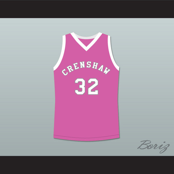 Monica Wright 32 Crenshaw High School Pink Basketball Jersey Love and Basketball - borizcustom