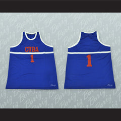 Cuba Basketball Jersey Stitch Sewn Any Number or Player - borizcustom