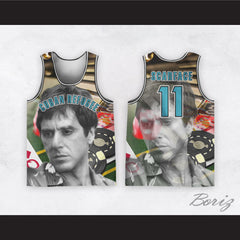 Scarface 11 Cuban Refugee Basketball Jersey Design 4