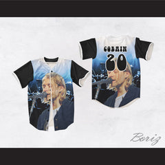 Kurt Cobain 20 Nirvana Night Concert Singing Baseball Jersey
