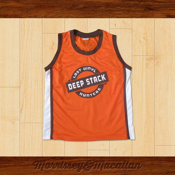 Deep Stack Lost Vinyl Hunters 45 Basketball Jersey for Crate Diggers by Morrissey&Macallan - borizcustom