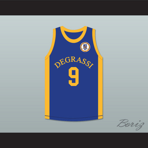 Drake Jimmy Brooks 9 Degrassi Community School Panthers Home Basketball Jersey with Patch - borizcustom