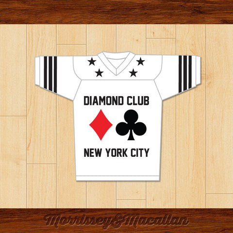 Diamond Club NYC Underground Poker Room Football Jersey by Morrissey&Macallan - borizcustom
