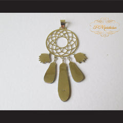 P Middleton Dream Catcher Pendant Sterling Silver .925 with Micro Inlay Stones - borizcustom - 5