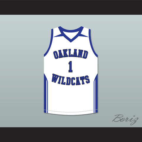 Damian Lillard 1 Oakland High School Wildcats White Basketball Jersey 2