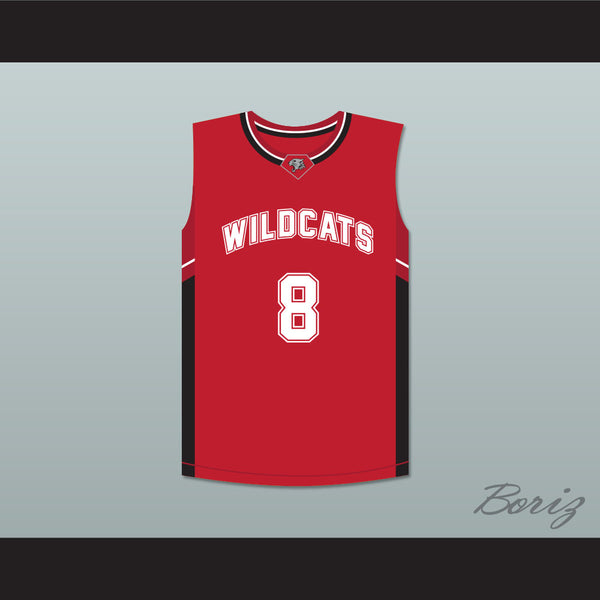 Chad Danforth 8 East High School Wildcats Red Basketball Jersey