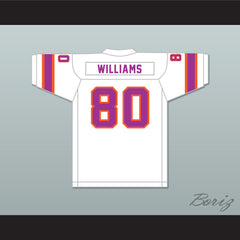 1974-75 WFL Dave Williams 80 Southern California Sun Home Football Jersey with Patch