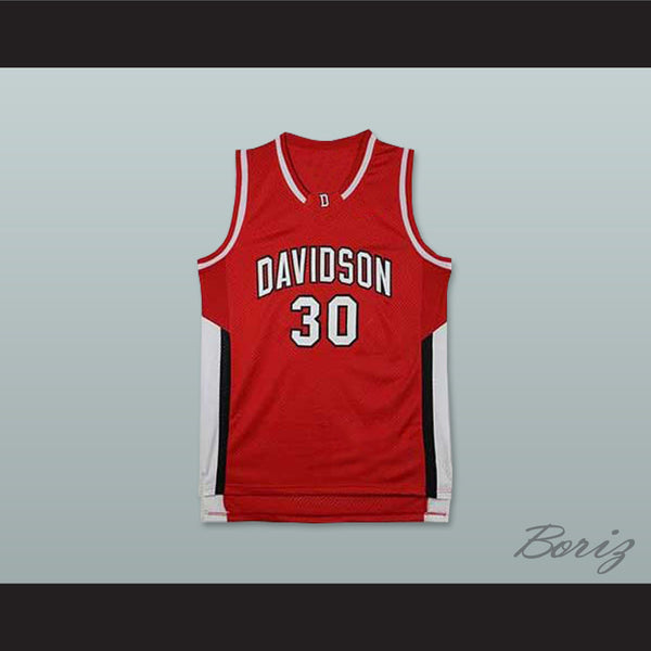 613424b20a2 Product Image Stephen Curry 30 Davidson College Wildcats Red Basketball  Jersey - borizcustom ...
